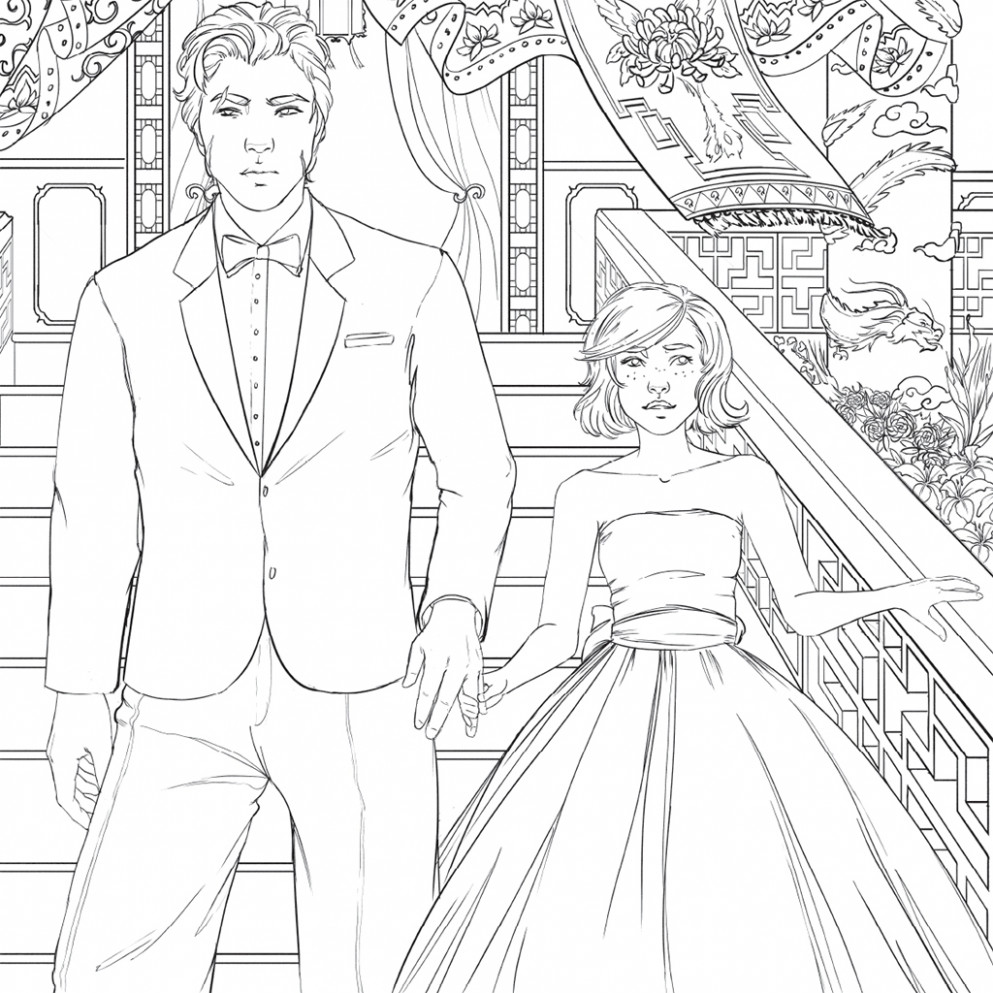 The Lunar Chronicles Coloring Book   Marissa Meyer   Macmillan – lunar chronicles coloring book