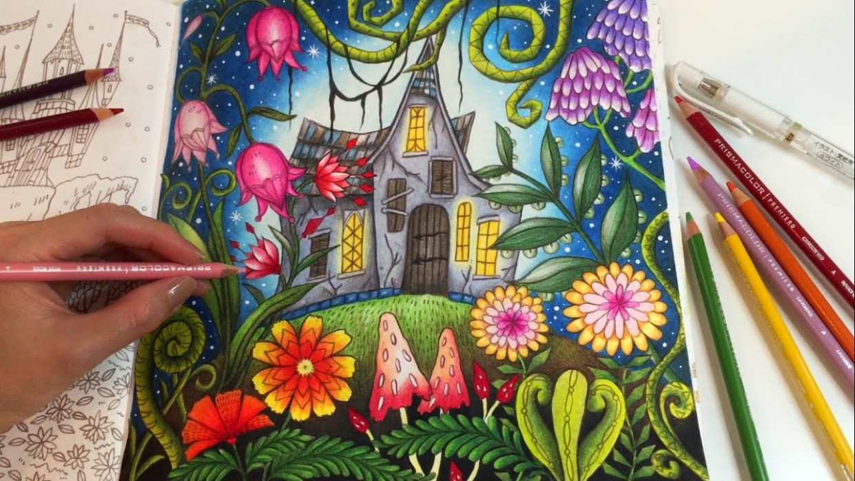 THE MAGIC LAND | Romantic Country The Second Tale Coloring Book ..