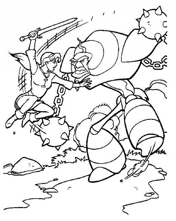 The Magic Sword: Quest for Camelot Coloring 19 – quest for camelot coloring book