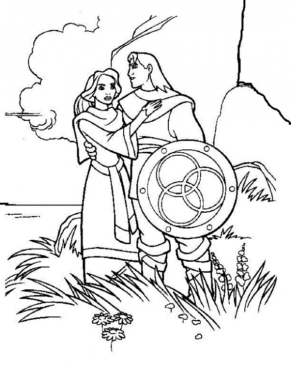 The Magic Sword: Quest for Camelot Coloring Pages 19 – quest for camelot coloring book