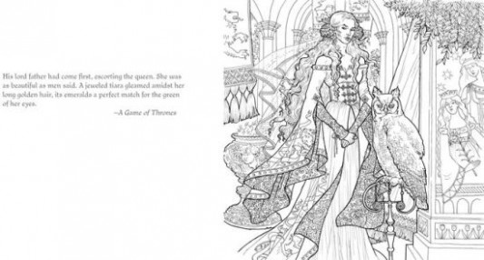 The Official A Game of Thrones Coloring Book by George R. R. Martin ..