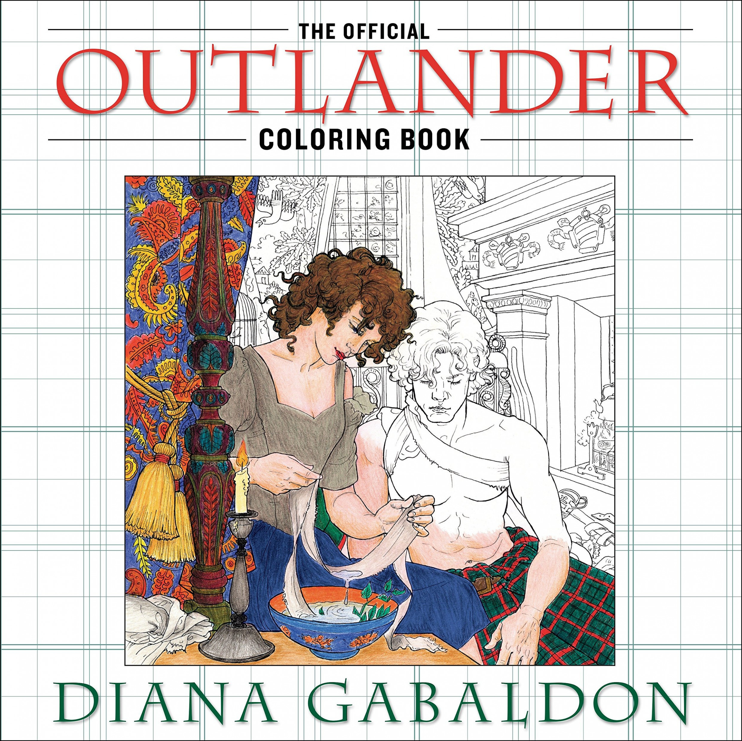 The Official Outlander Coloring Book: An Adult Coloring Book: Amazon ...