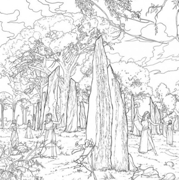 The Official Outlander Coloring Book | Coloring Pages | Pinterest ...