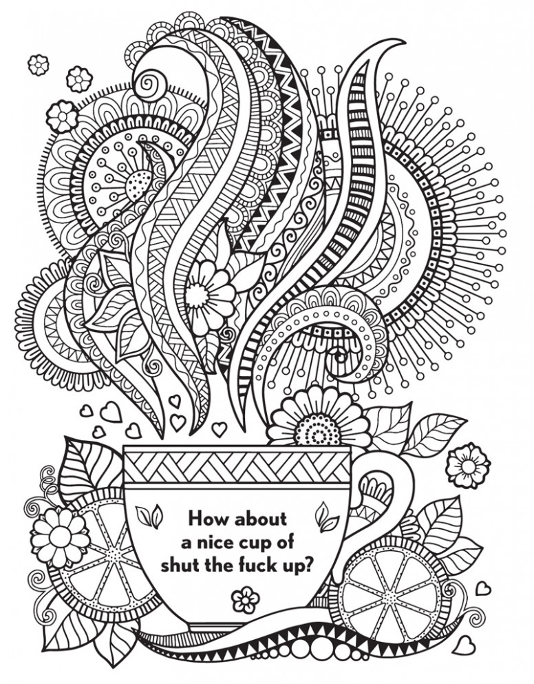 The Swear Word Coloring Book | Hannah Caner | Macmillan – what is a swear word coloring book