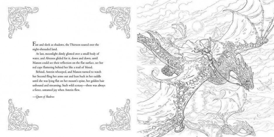 The Throne of Glass Coloring Book, by Sarah J. Maas : The Childrens ...