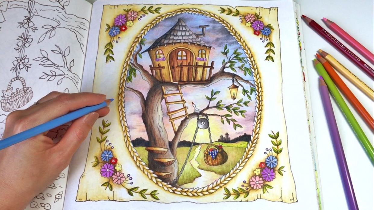 The Treehouse | ROMANTIC COUNTRY A Fantasy Coloring Book | Coloring ..