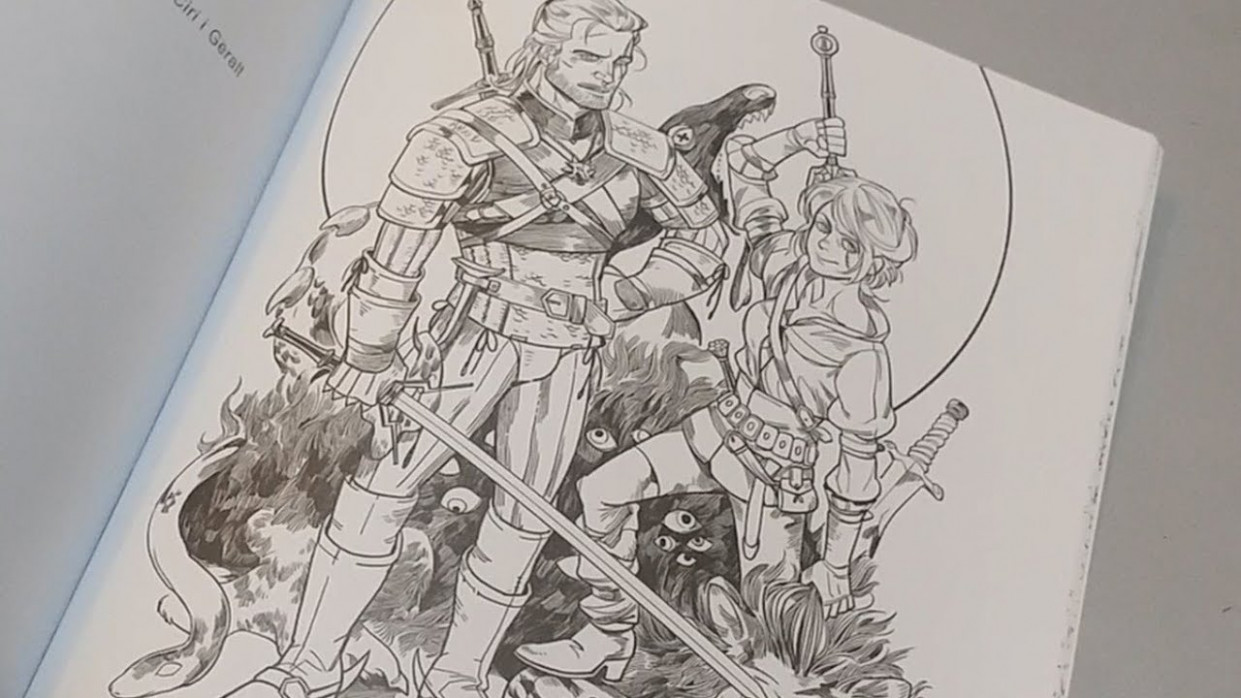 The Witcher 18 Adult Coloring Book Unboxing and Presentation – YouTube – witcher coloring book