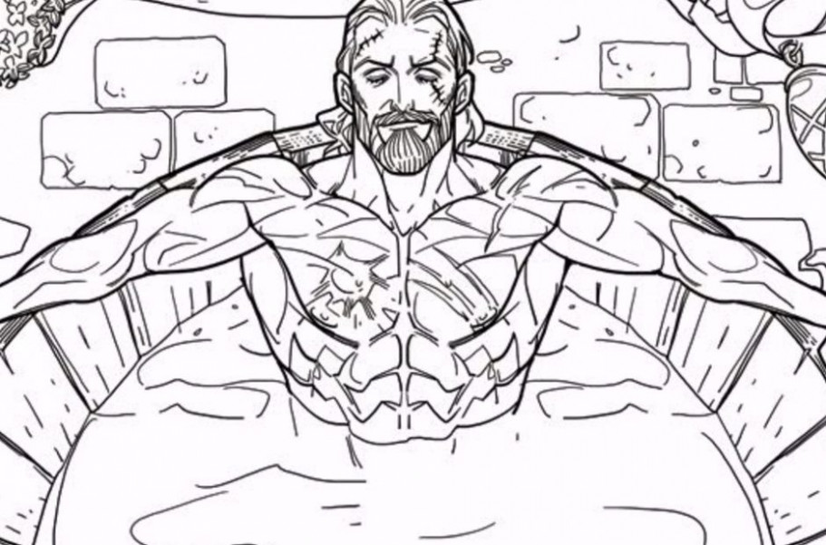 "The Witcher 18 getting an ""adult"" coloring book featuring Geralt in .."