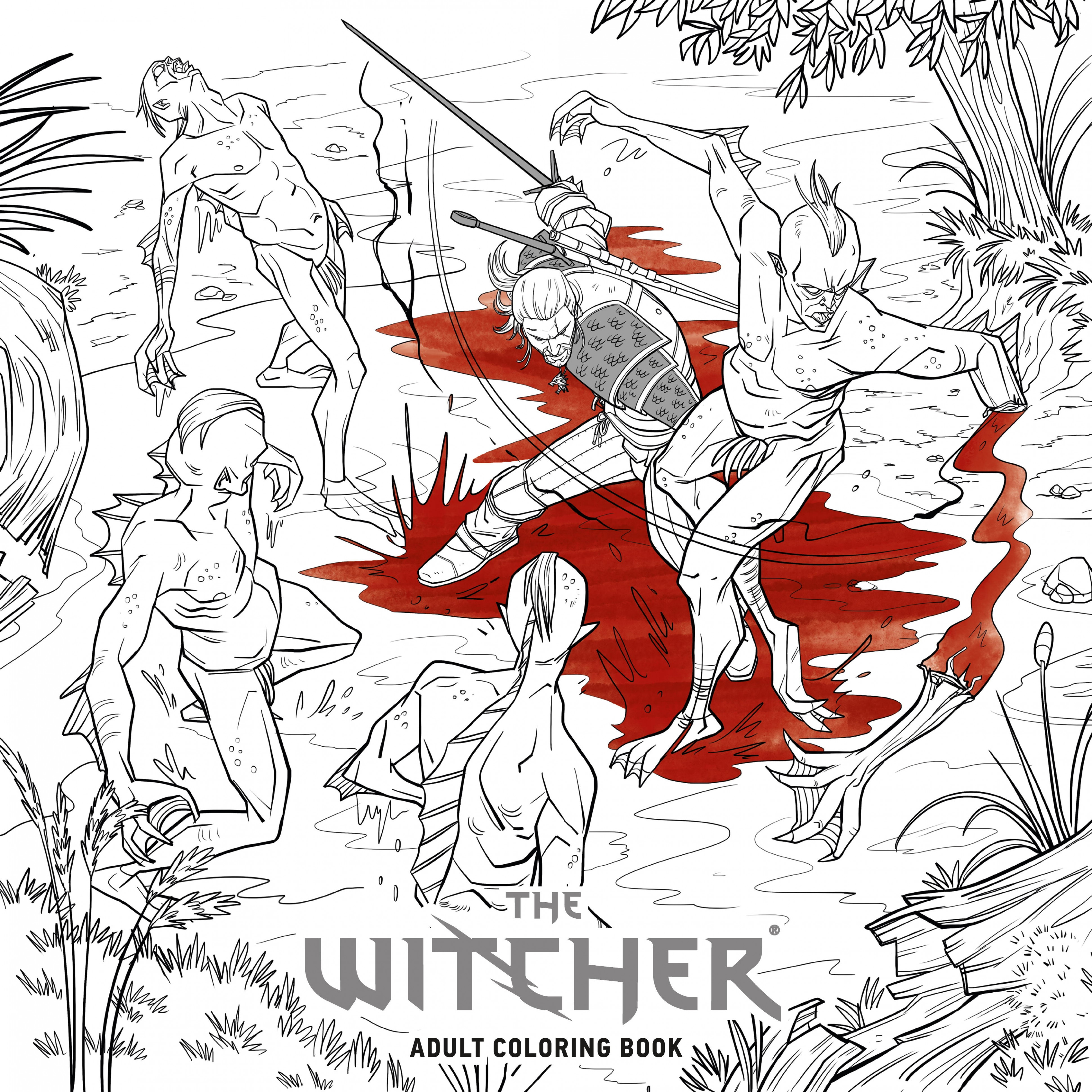 The Witcher Adult Coloring Book by CD PROJEKT RED - Penguin Books ...