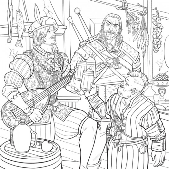 The Witcher Adult Coloring Book - CD Projekt Red (Paperback) | Raru