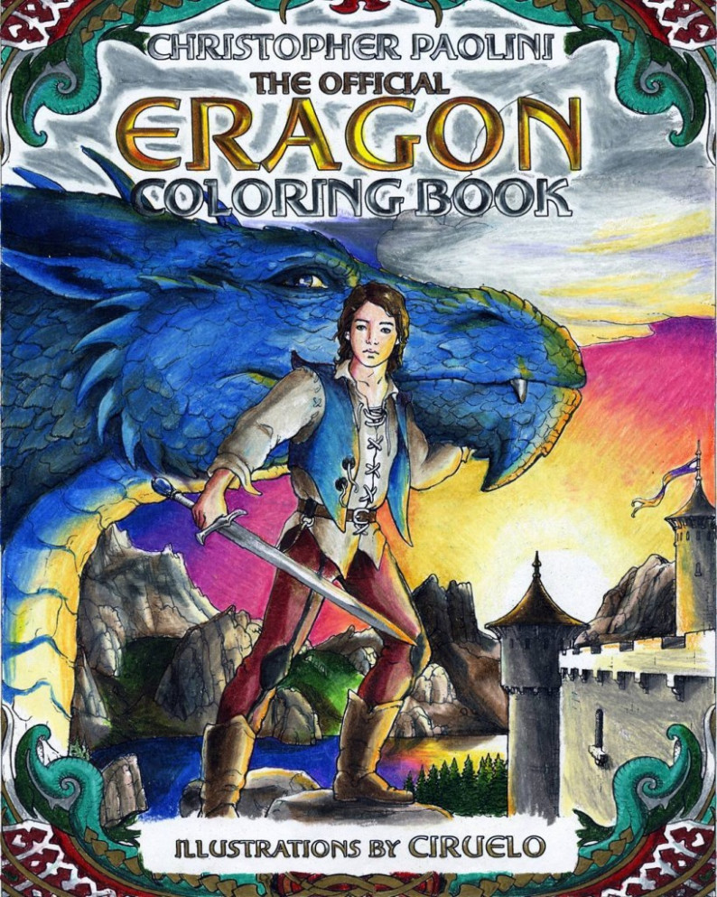 These incredible fan-colored Eragon Coloring Book covers blew us ..