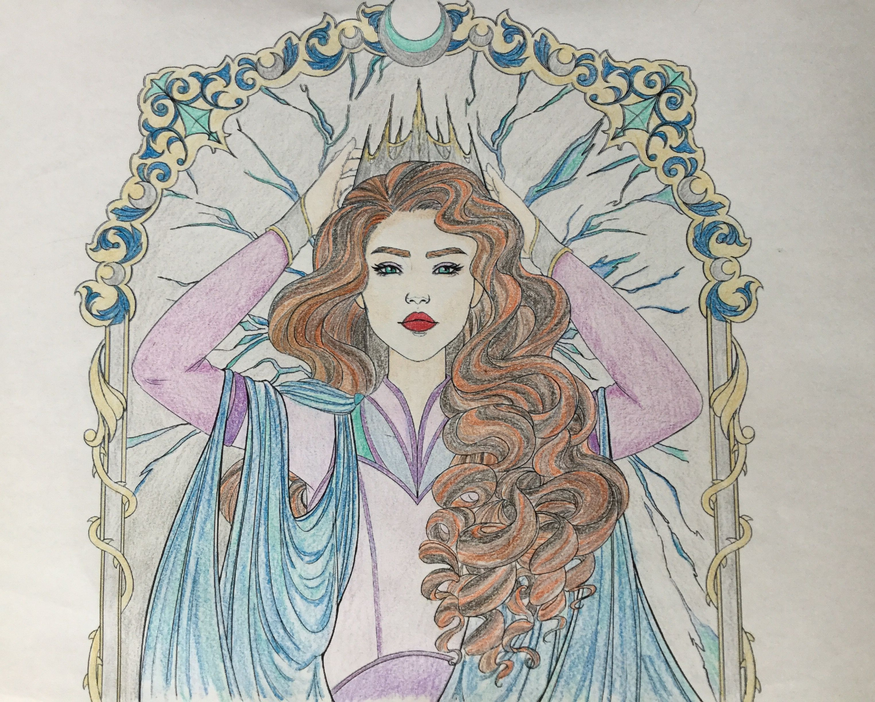 This is a picture of Levana that I colored from Marissa Meyers's ...