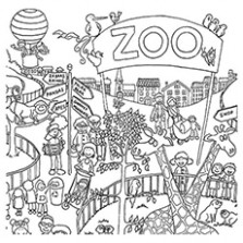 Top 14 Free Printable Zoo Coloring Pages Online – zoo coloring book
