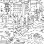 Tower Bridge and Tower of London coloring page | Free Printable ...