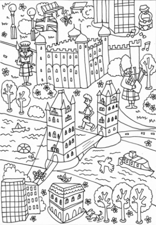 Tower Bridge and Tower of London coloring page | Free Printable ..