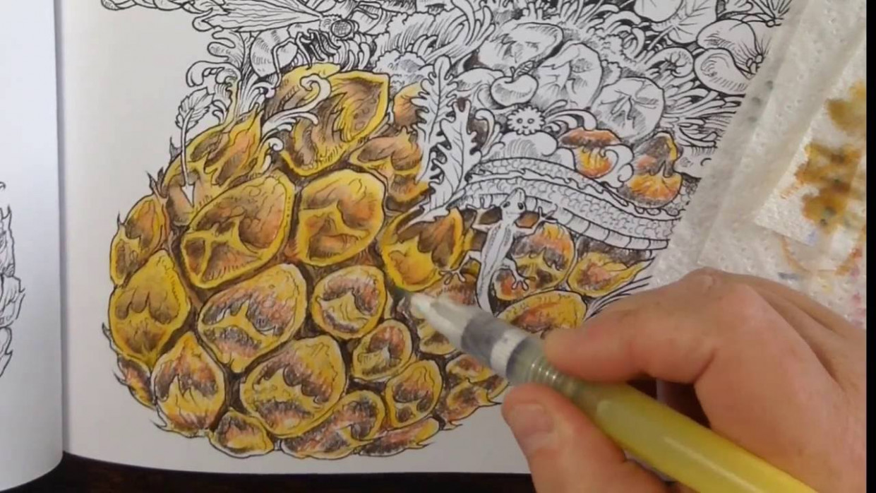 Tutorial - Coloring with neocolor II crayons - imagimorphia coloring ...