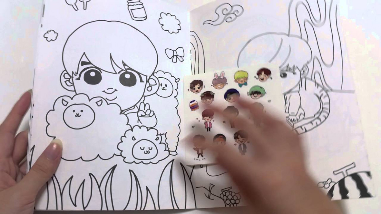 UNBOXING] CHEESEBANG BTS COLOURING BOOK - YouTube