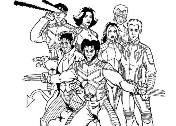 Uncategorized. X Men Coloring Book - All About Of Coloring Page Picture
