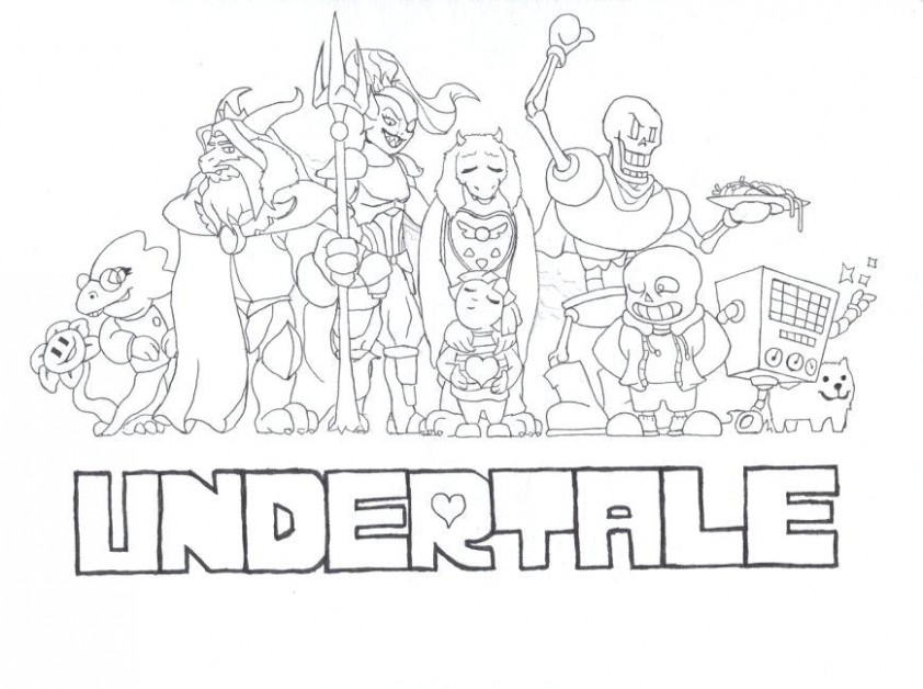 Undertale Coloring Book - Coloring Pages