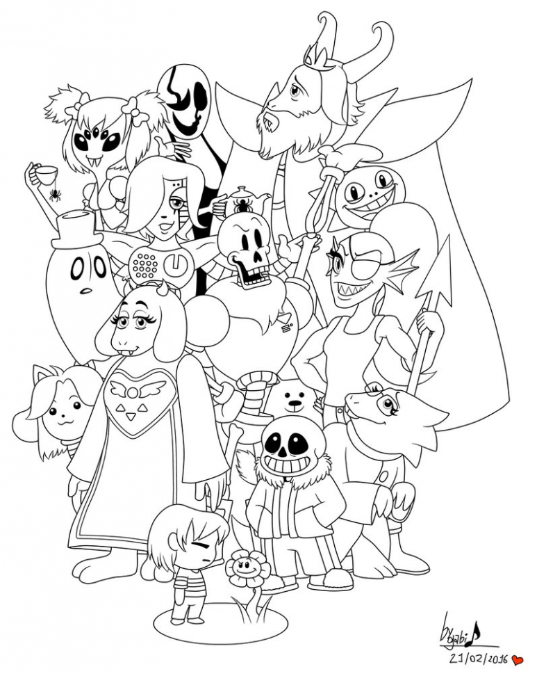 Undertale coloring page - Coloring Pages