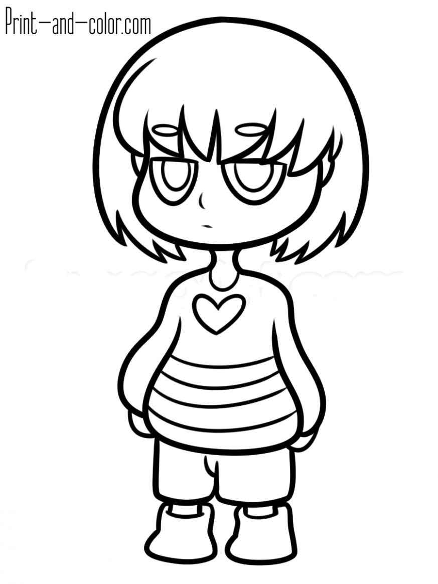 Undertale coloring pages | Print and Color.com