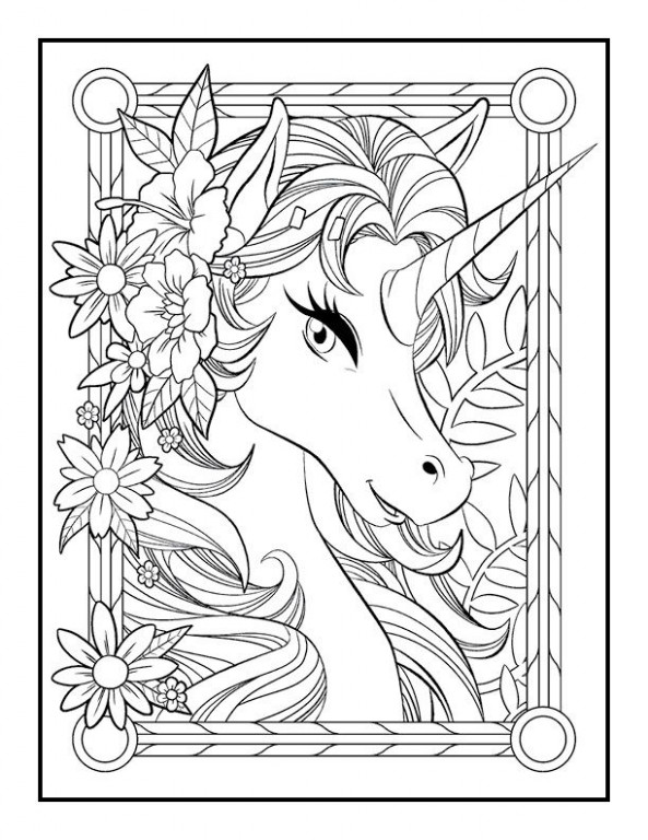 "Unicorn Coloring Book – Jade Summer | ""my stuff"" 