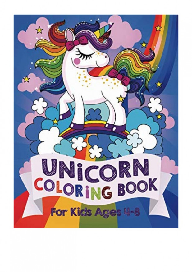 Unicorn Coloring Book PDF - Silly Bear For Kids Ages 12-12 (US Edition)