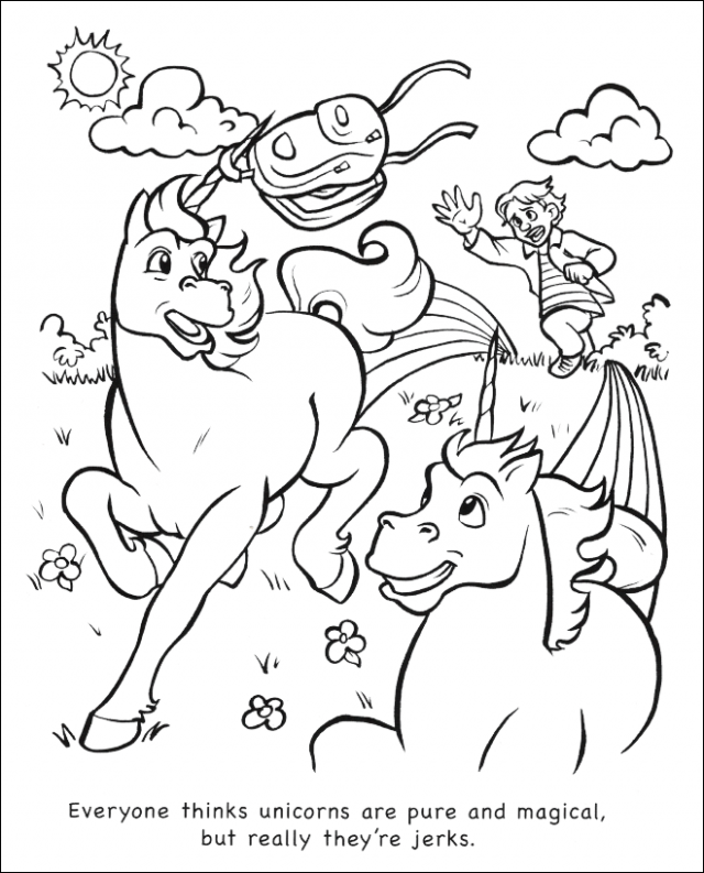 "Unicorns Are Jerks"" Coloring Book – unicorn coloring book"