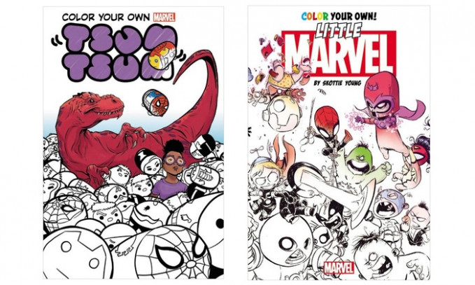 Up To 14% Off on Marvel Coloring Books (14-Pack)   Groupon Goods – young marvel coloring book
