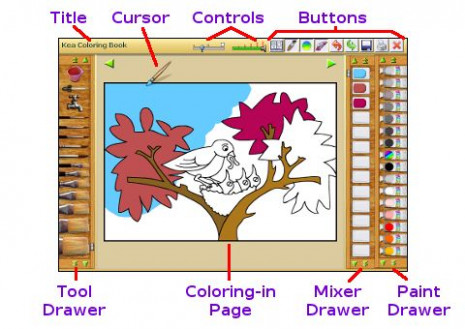 Using the online Coloring Book - kea coloring book