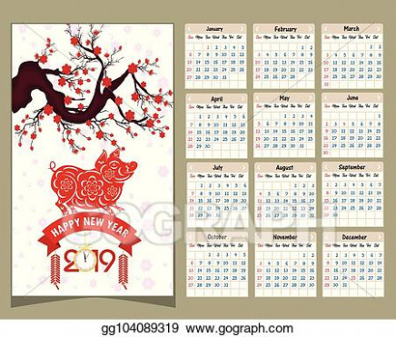 Vector Clipart - Calendar 16 chinese calendar for happy new year ...