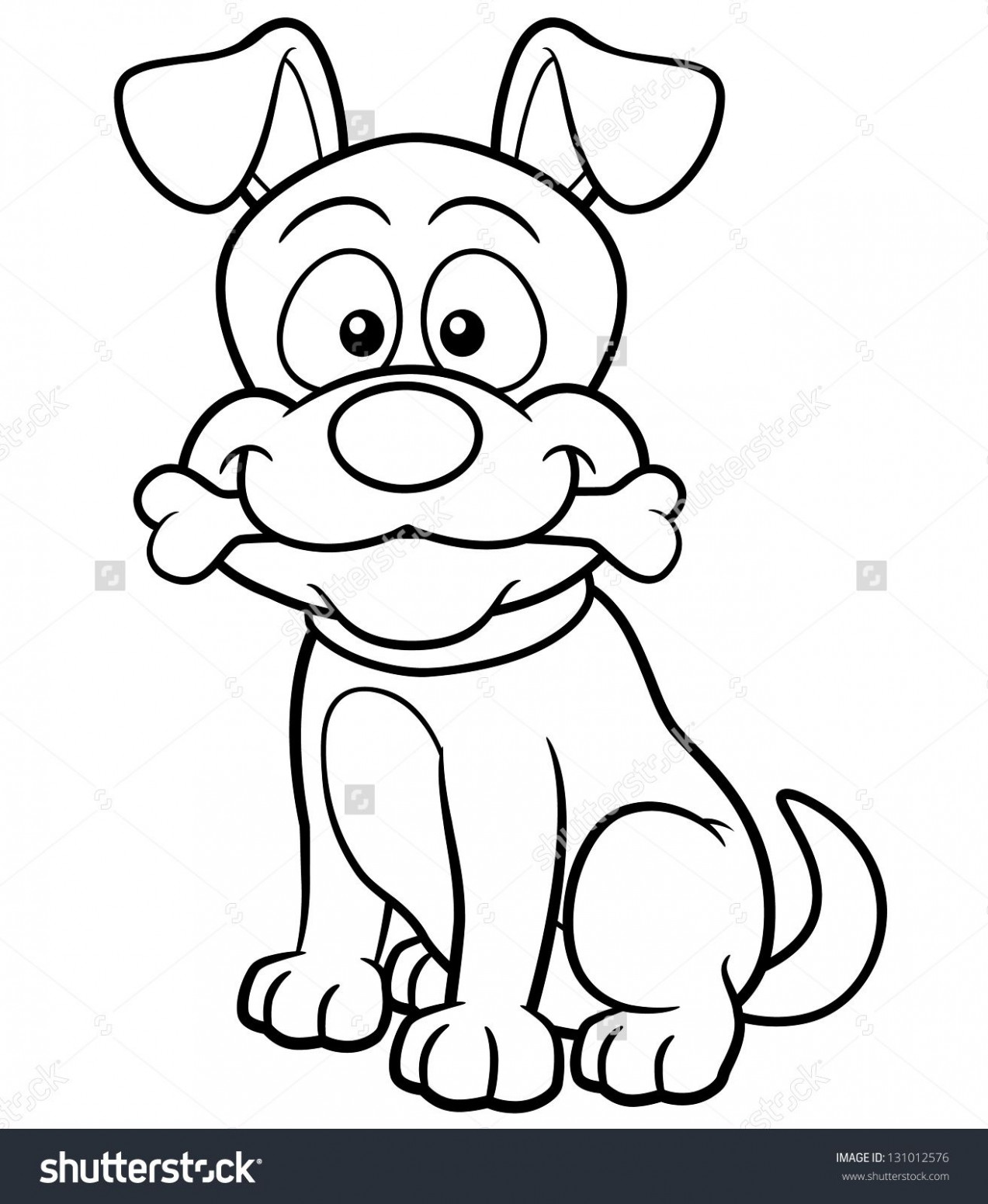 Vector illustration of Cartoon Dog - Coloring book | Dogs ...