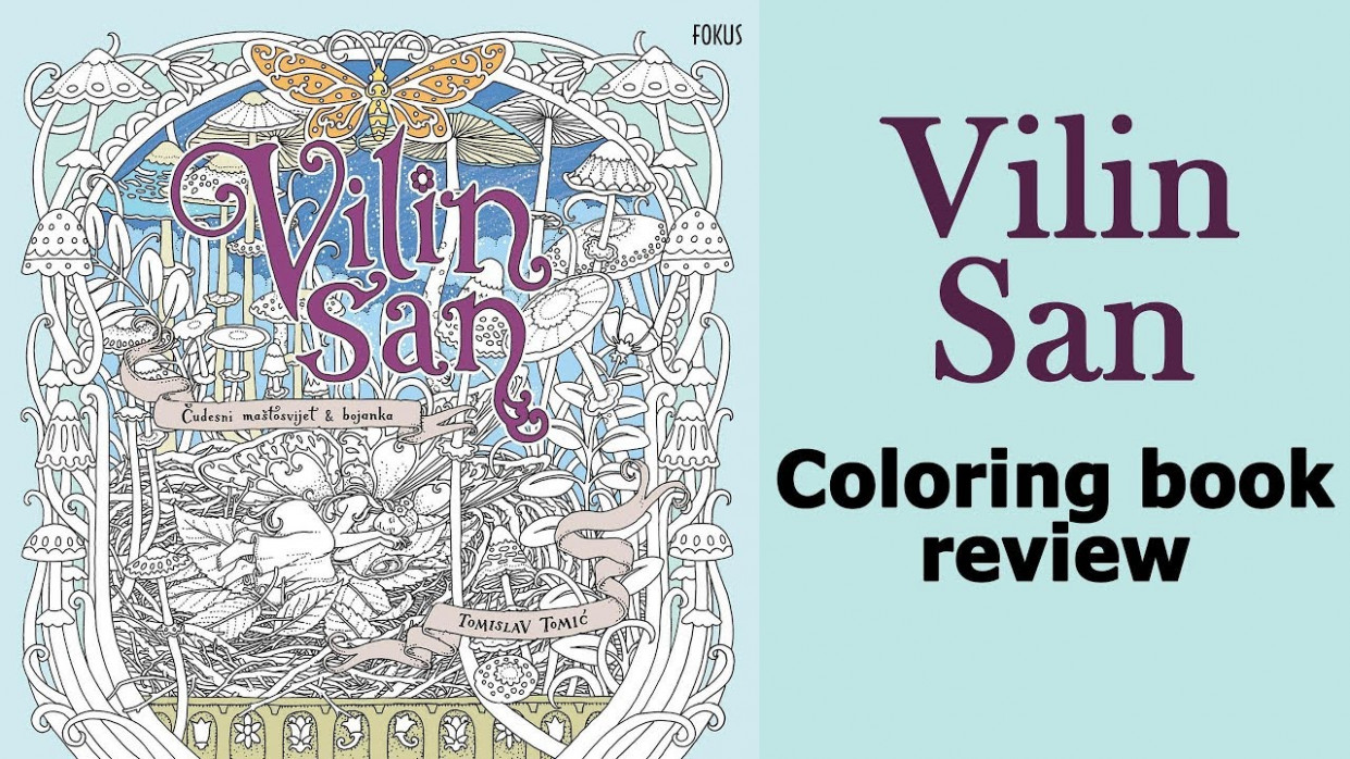 Vilin San' by Tomislav Tomic. Coloring book flip through - YouTube