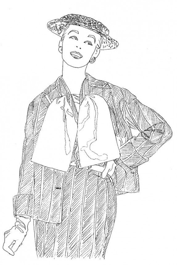 Vogue coloring book | Coloring Pages | Coloring books, Vogue ..