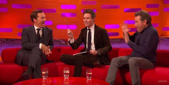 Watch: Eddie Redmayne   Benedict Cumberbatch play magic tricks and ..
