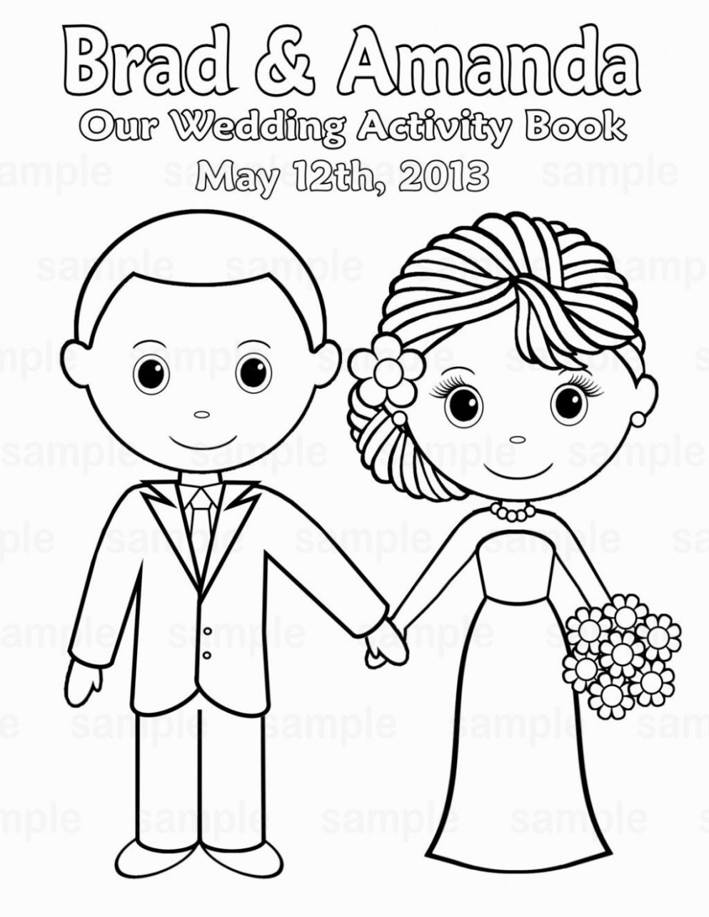 Wedding Coloring Book Printable   Coloring Pages   Pinterest ...