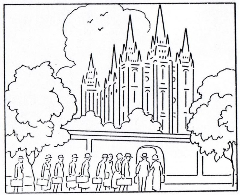 Would make great embroidery projects – Mormon History Coloring Book ..