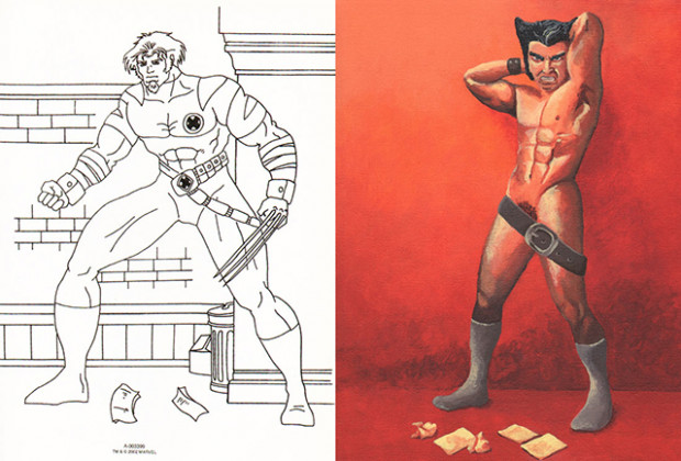 X-Mans, An Art Show Based on Pages From a Dollar Store 'X-Men ...