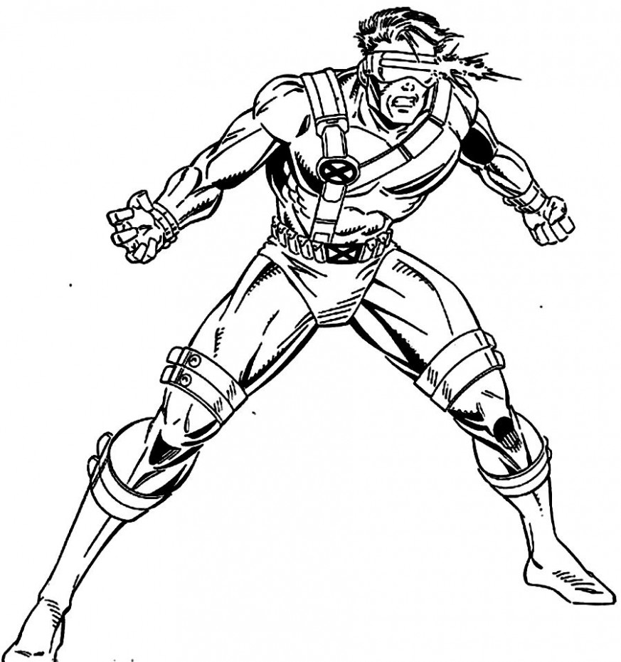 X Men Coloring Pages Free 16 With X Men Coloring Pages Free ...