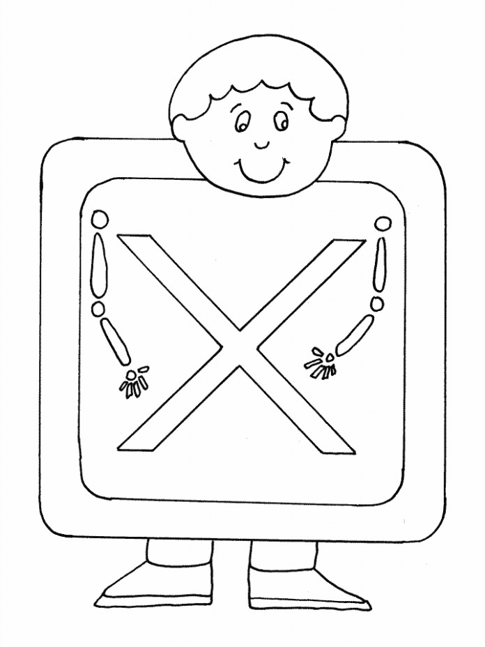 X Xray Alphabet Coloring Pages Coloring Book Coloring Books For ...