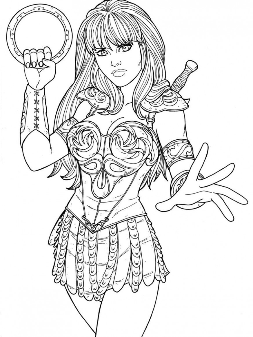 Xena by JamieFayX.deviantart.com on @DeviantArt | Fan-based lineart ...