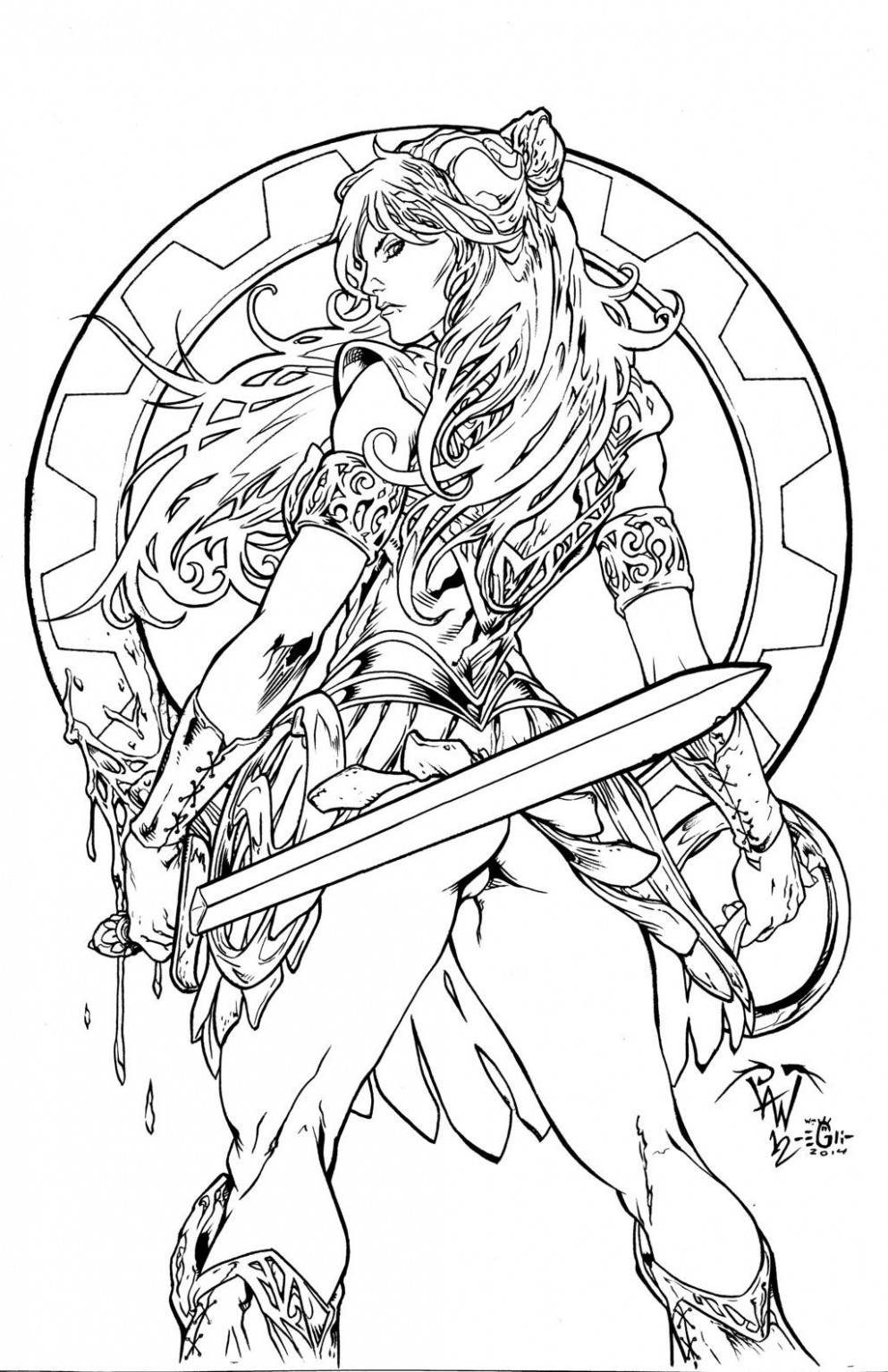 XENA Warrior Princess - PANT - Egli - Inks by SurfTiki on DeviantArt ...