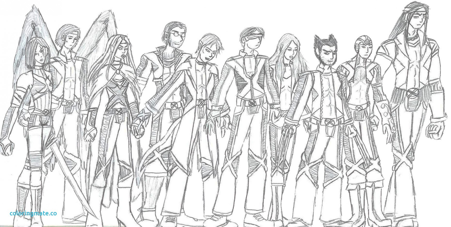 Xmen Coloring Pages 20 With Xmen Coloring Pages   Thejourneyvisvi ...