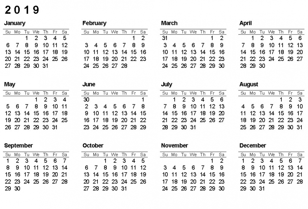 Year 20 Calendar Printable Printable Calendar 20 Yearly Calendar ..