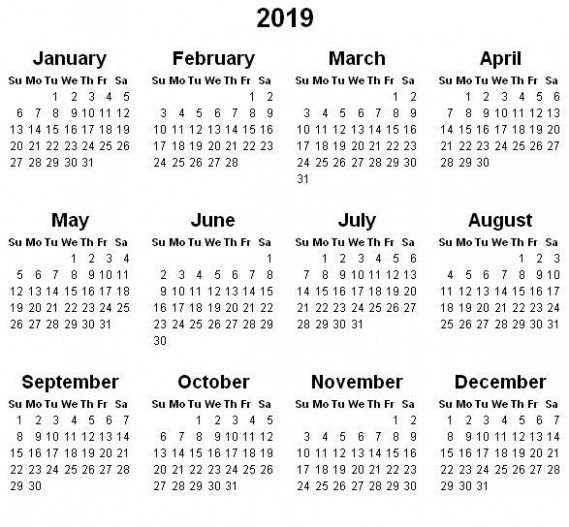 Year to View Calendar 14 Printable Year Calendar 14 – Free ...