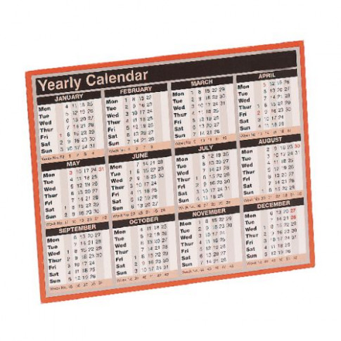 Year to View Calendar 14x14mm 14 KFYC14 - Office Monster