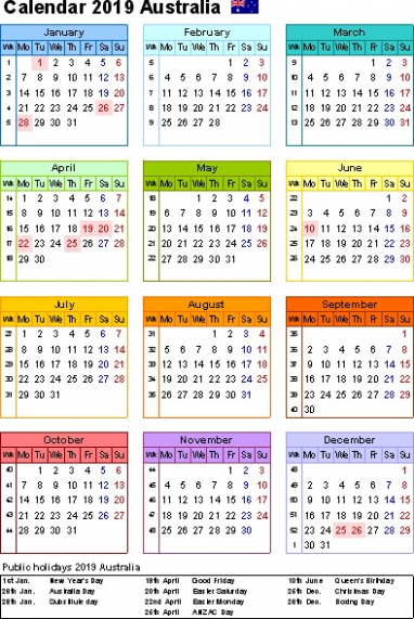 Yearly Calendar 14 Template With QLD Holidays Free Public 14 Qld ...