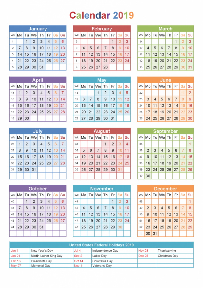 Yearly Printable Calendar 18 With Malaysia Holidays | October 18 ...