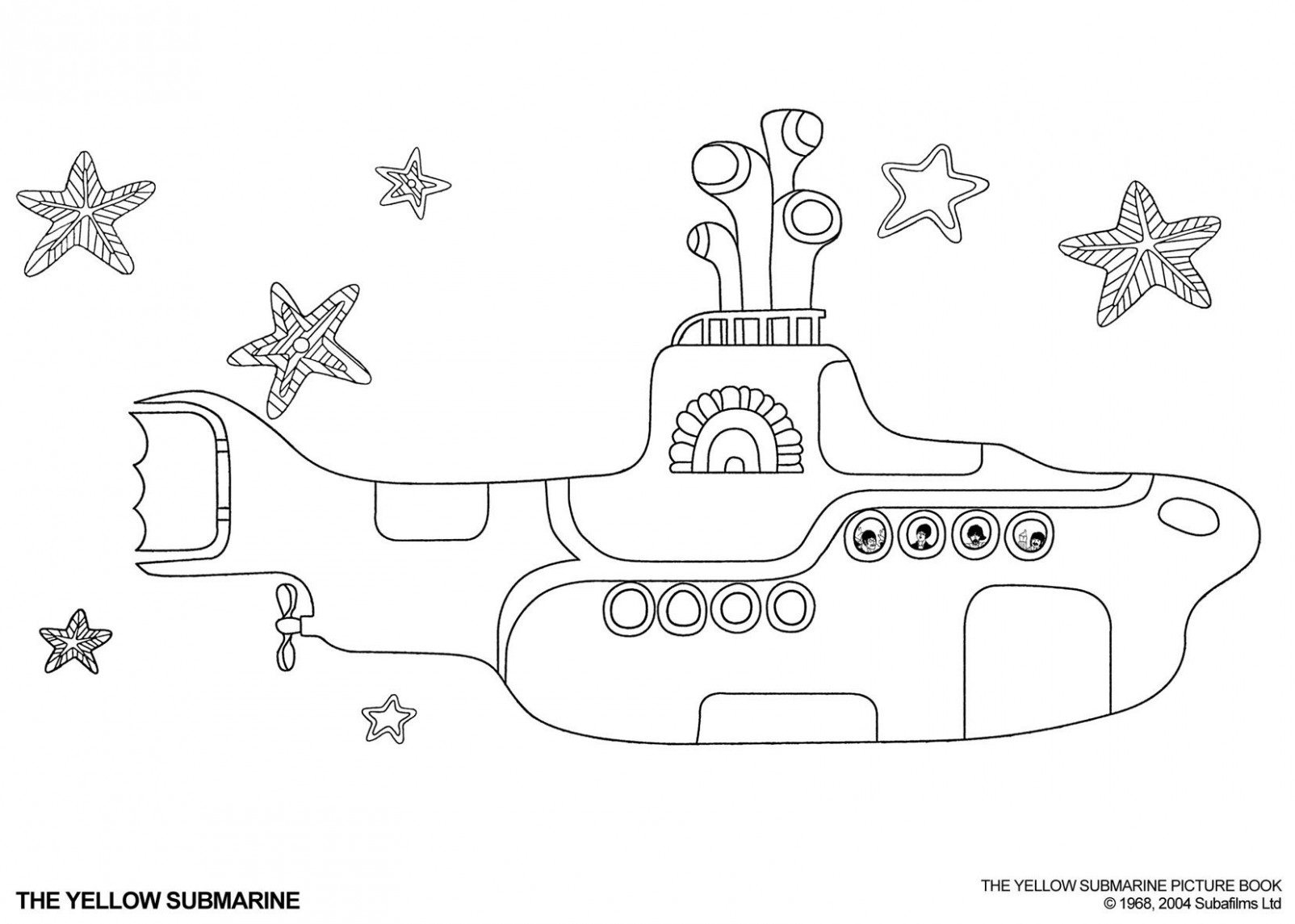 yellow submarine coloring page – Google Search | Boys School Ideas ..