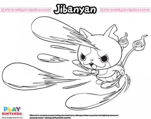 YO-KAI WATCH Coloring Pages – Play Nintendo – yo kai watch coloring book
